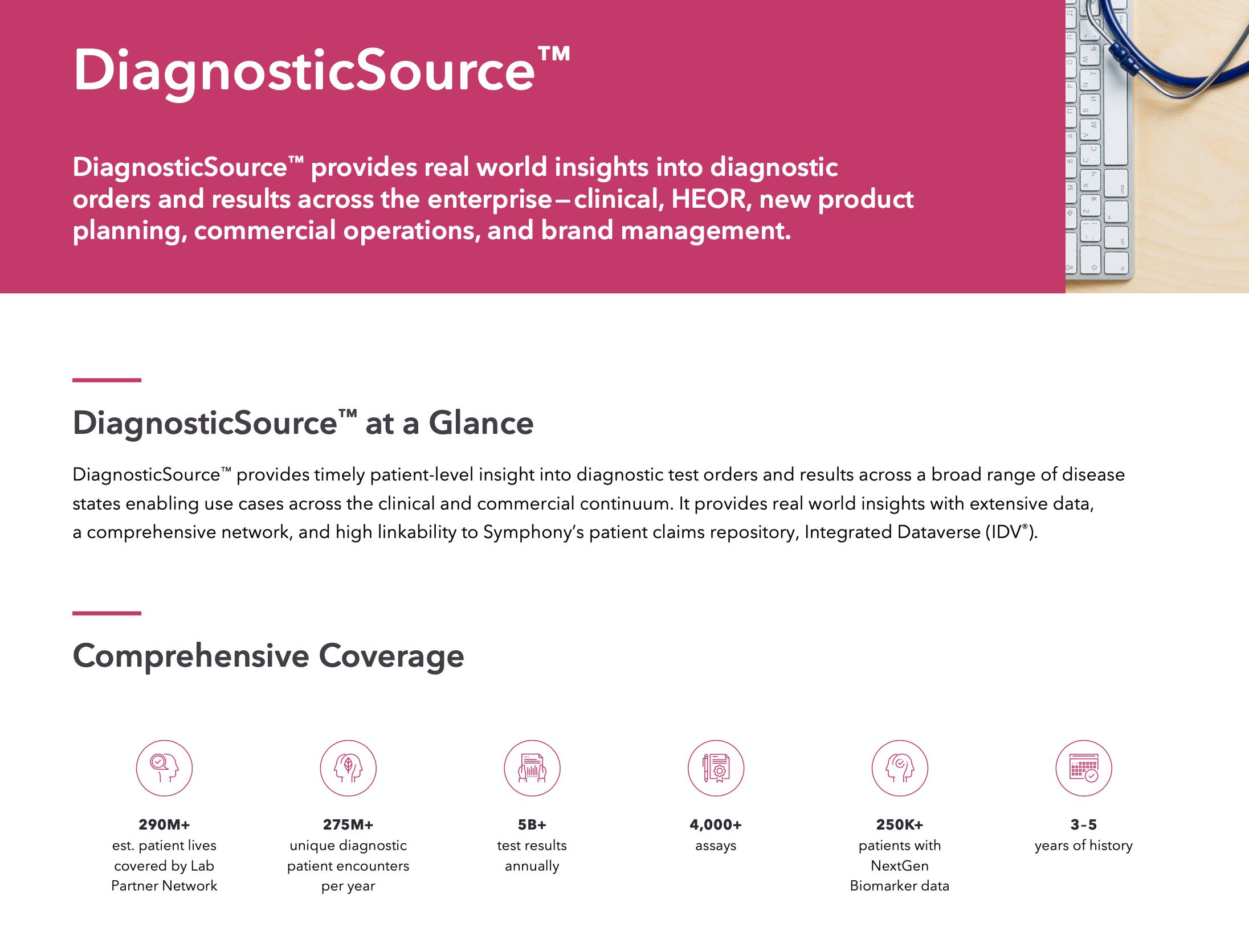 DiagnosticSource™ Sales Sheet