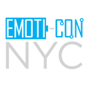 Emoti con logo small blue grey