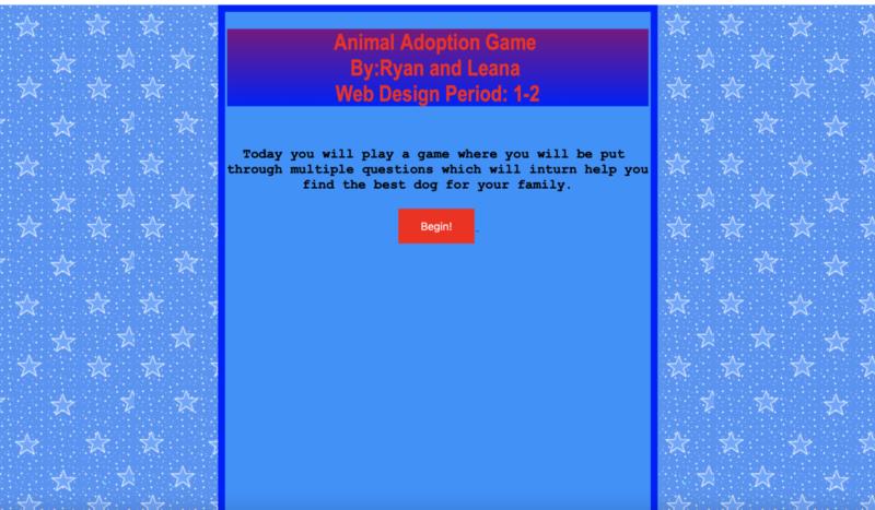 Animal Adoption Game