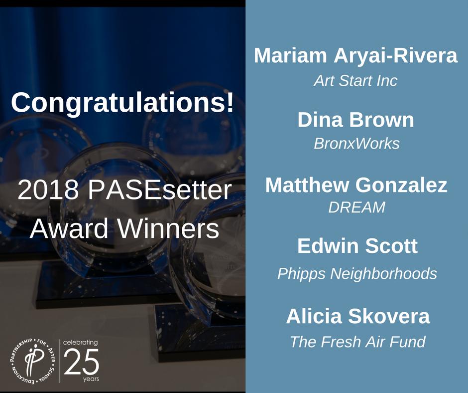 2018 Facebook Pasesetter Congrats