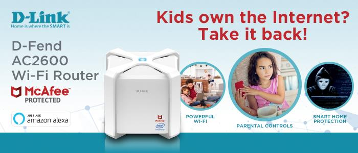 D-Link D-Fend AC2600 Wi-Fi Router with Advanced Parental Controls 1