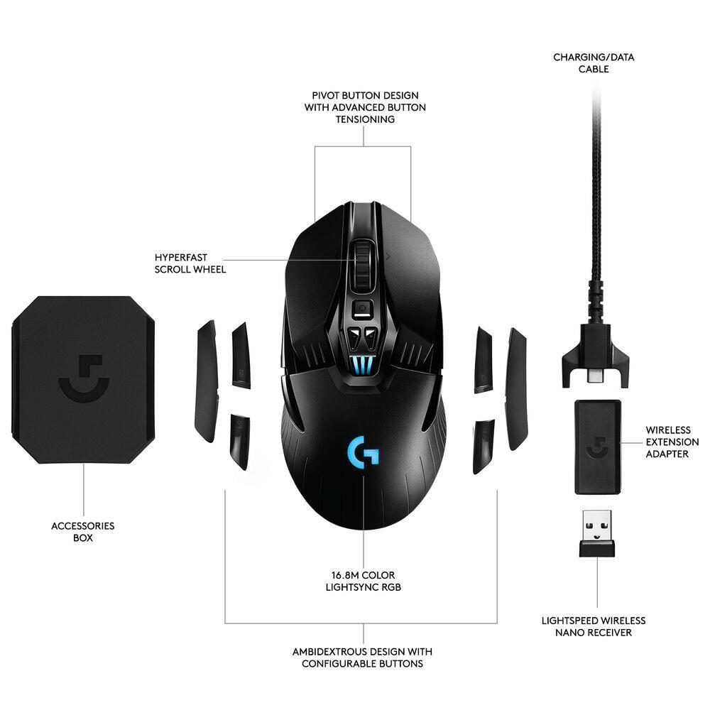 Logitech G903 LIGHTSPEED Gaming Mouse with HERO 16K Sensor 2