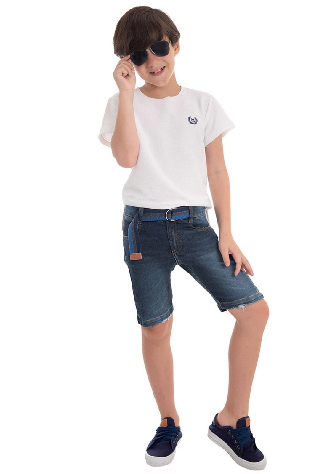 Bermuda Jeans Cinto Embutido
