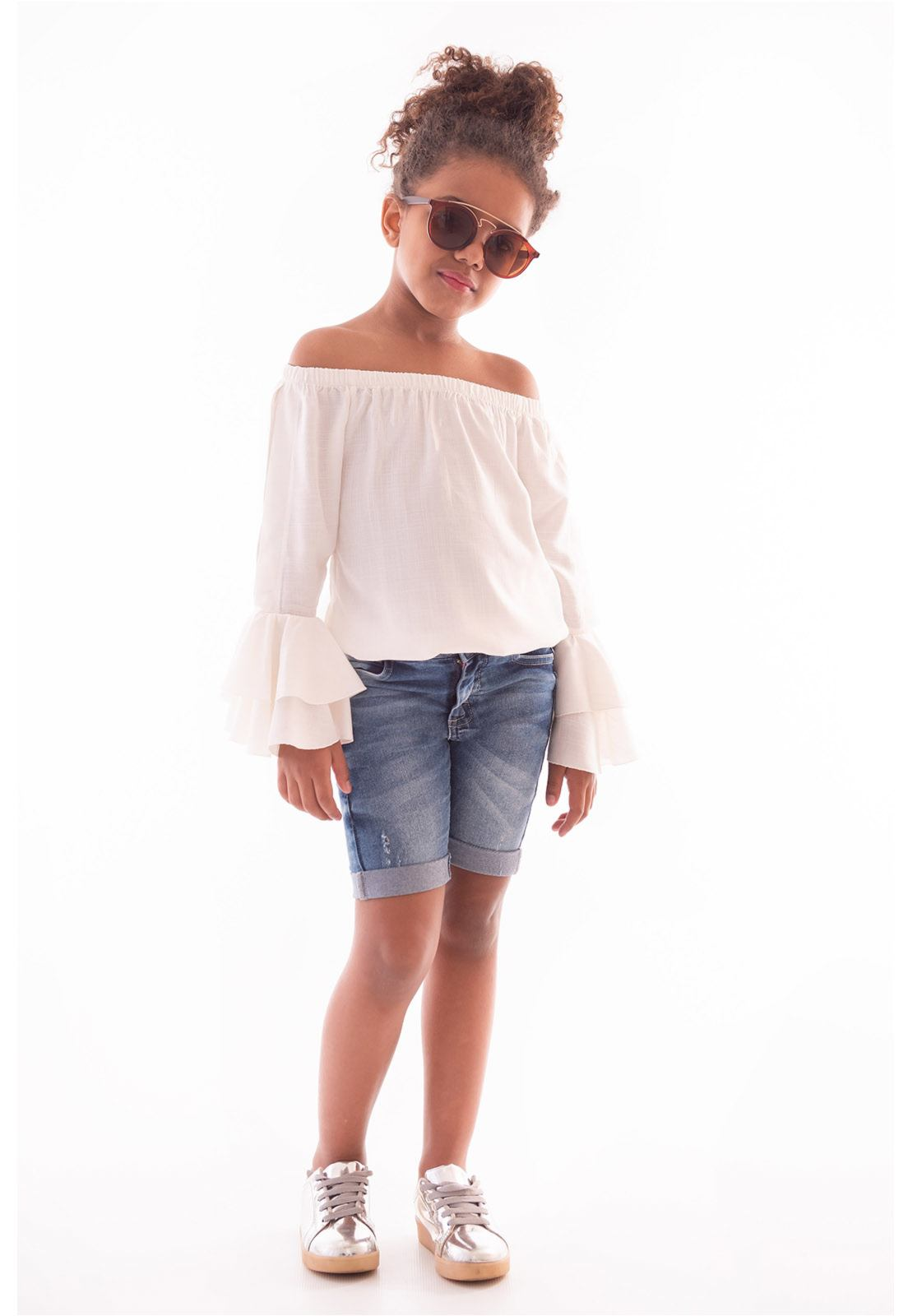 Bermuda Jeans com Elastano Menina Ref. 444