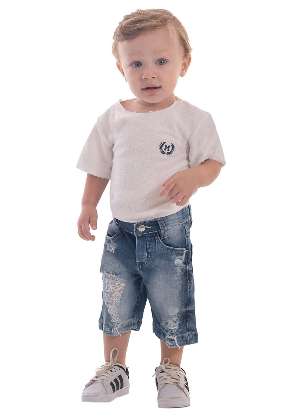 Bermuda Jeans Destroyed Super na Moda