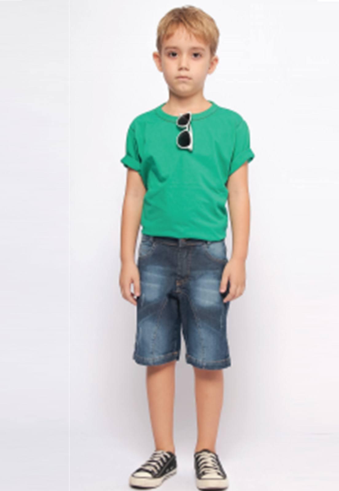 Bermuda Jeans Estonada para Menino Ref. 224