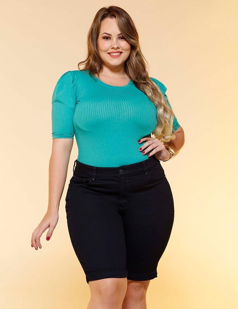 Bermuda Jeans Feminina Fact Jeans Plus Size ref. 04547