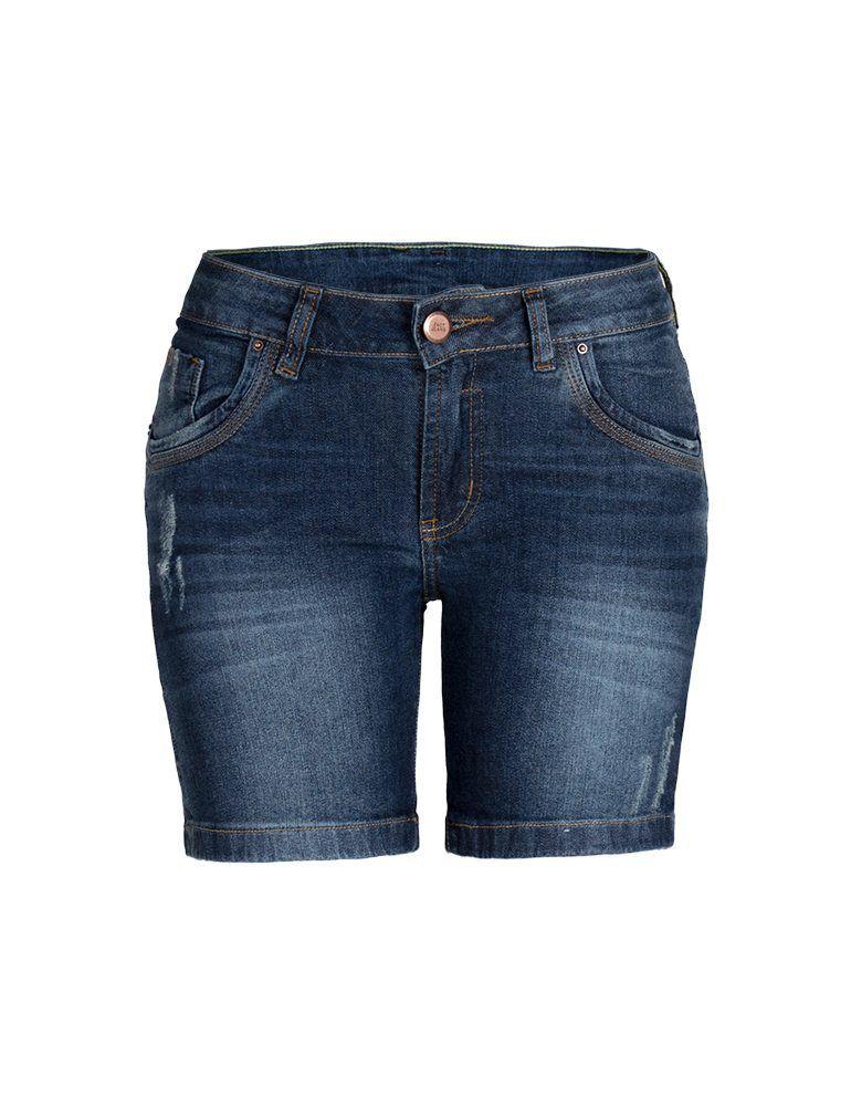 Bermuda Jeans Feminina Meia Coxa Fact Jeans ref. 02986