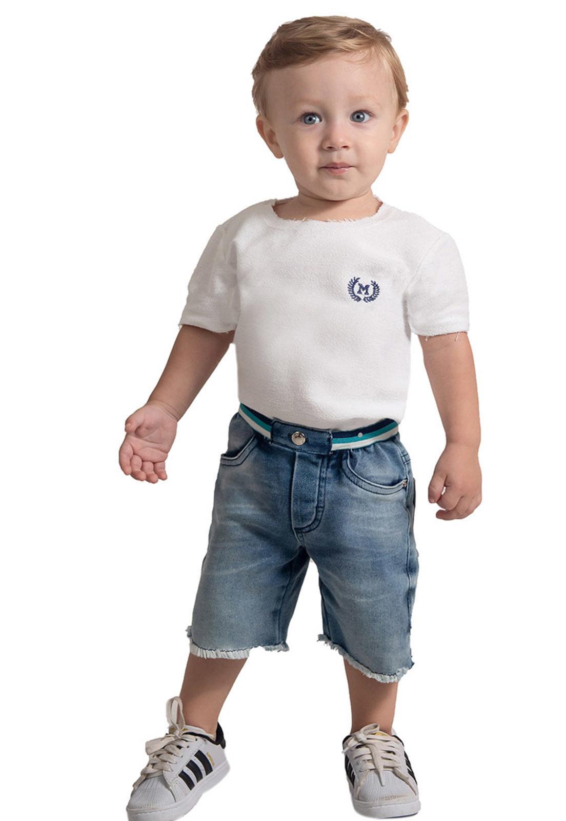 Bermuda Jeans Moletom Super Macia Ref. 576