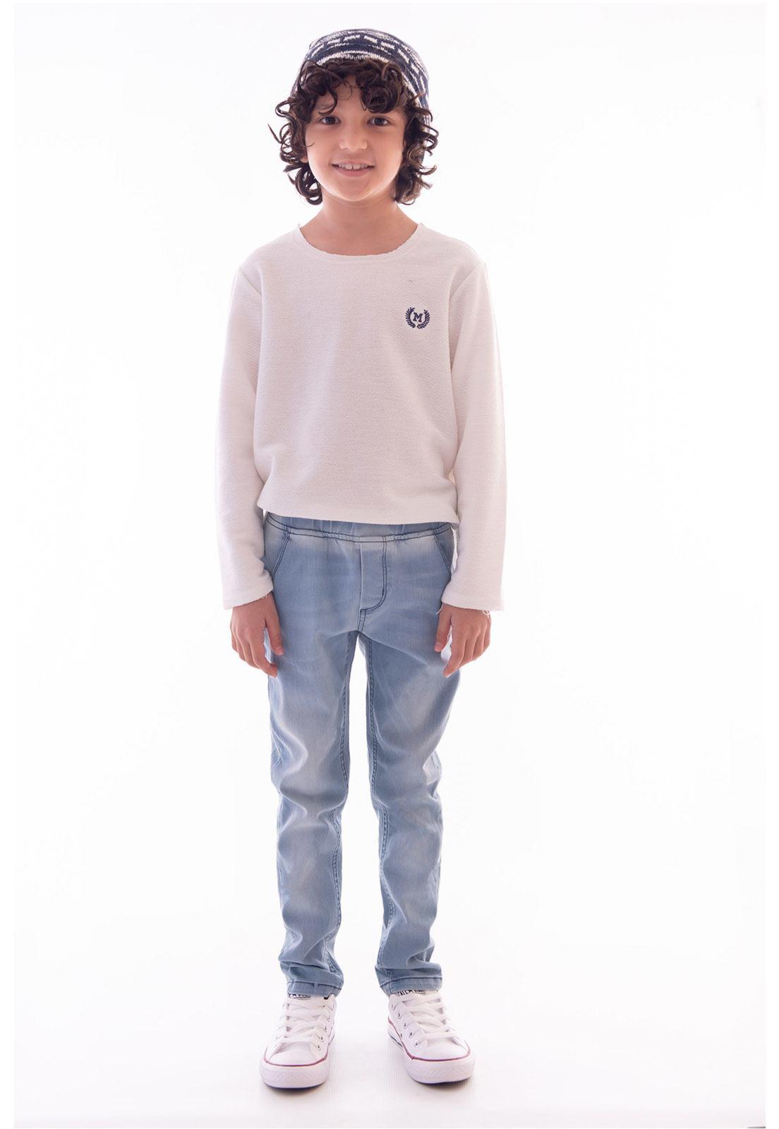 Calça Jeans com Elástico para Menino Ref. 511