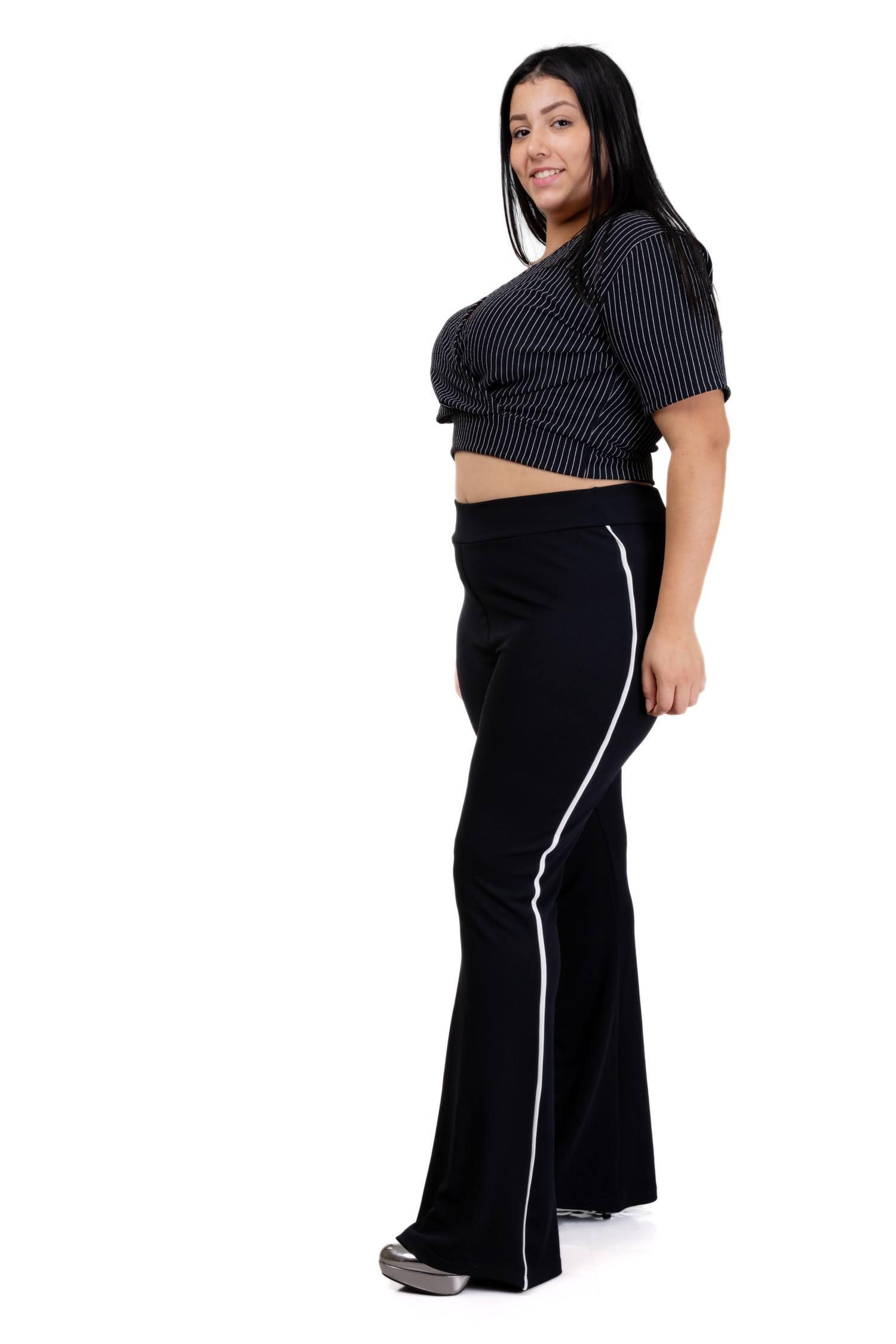 Calça Flare Plus Size - Valentina Ref. 3136