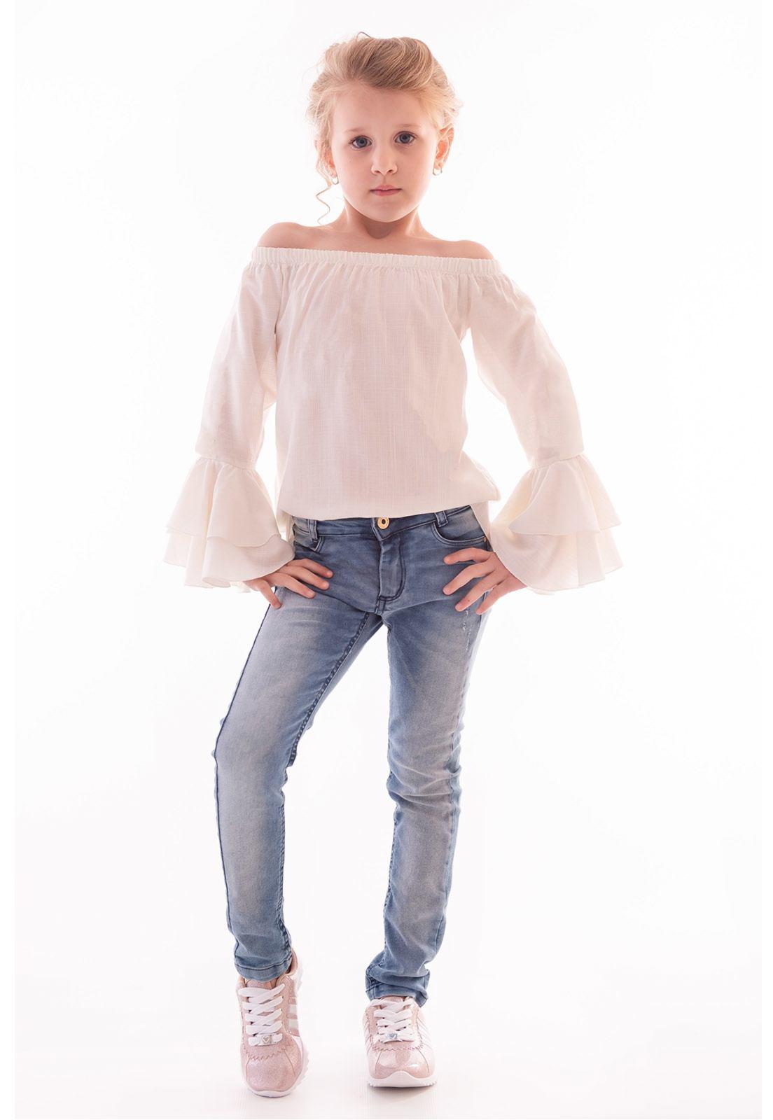 Calça Jeans Básica Menina com Elastano Ref. 452