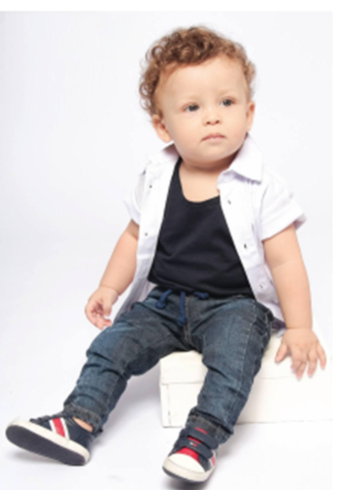 Calça Jeans Bebê Tradicional Menino Ref. 185