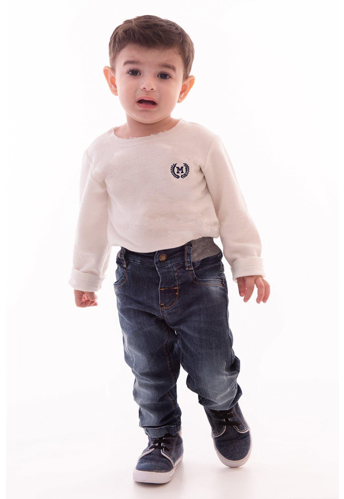Calça Jeans com Elastano - Cós Elástico em Ribana Ref. 418
