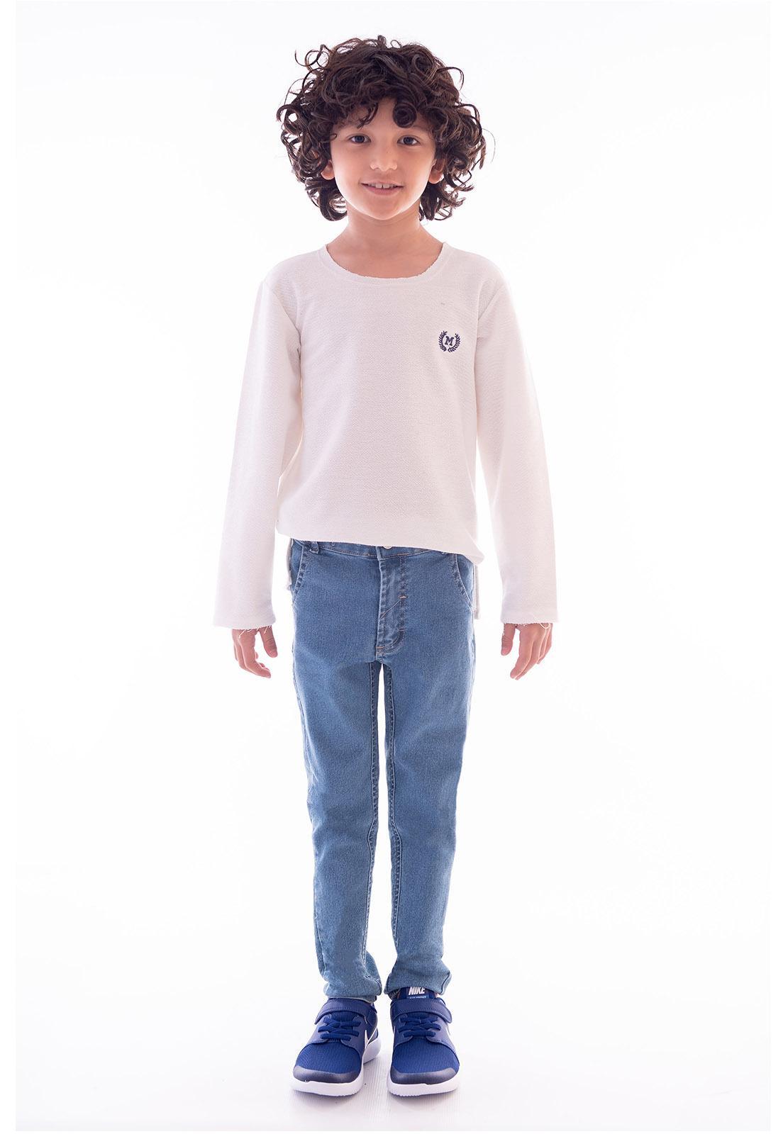 Calça Jeans com Elastano para Menino Ref. 508