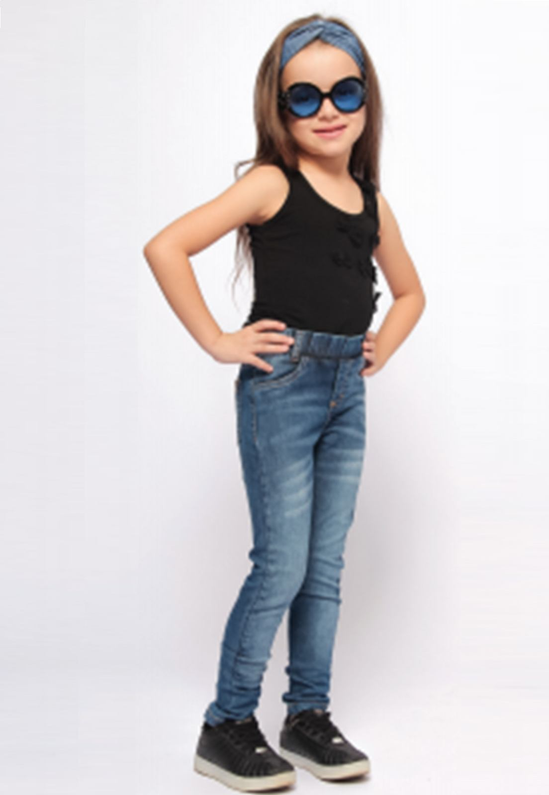 Calça Jeans com Puídos para Meninas Ref. 238