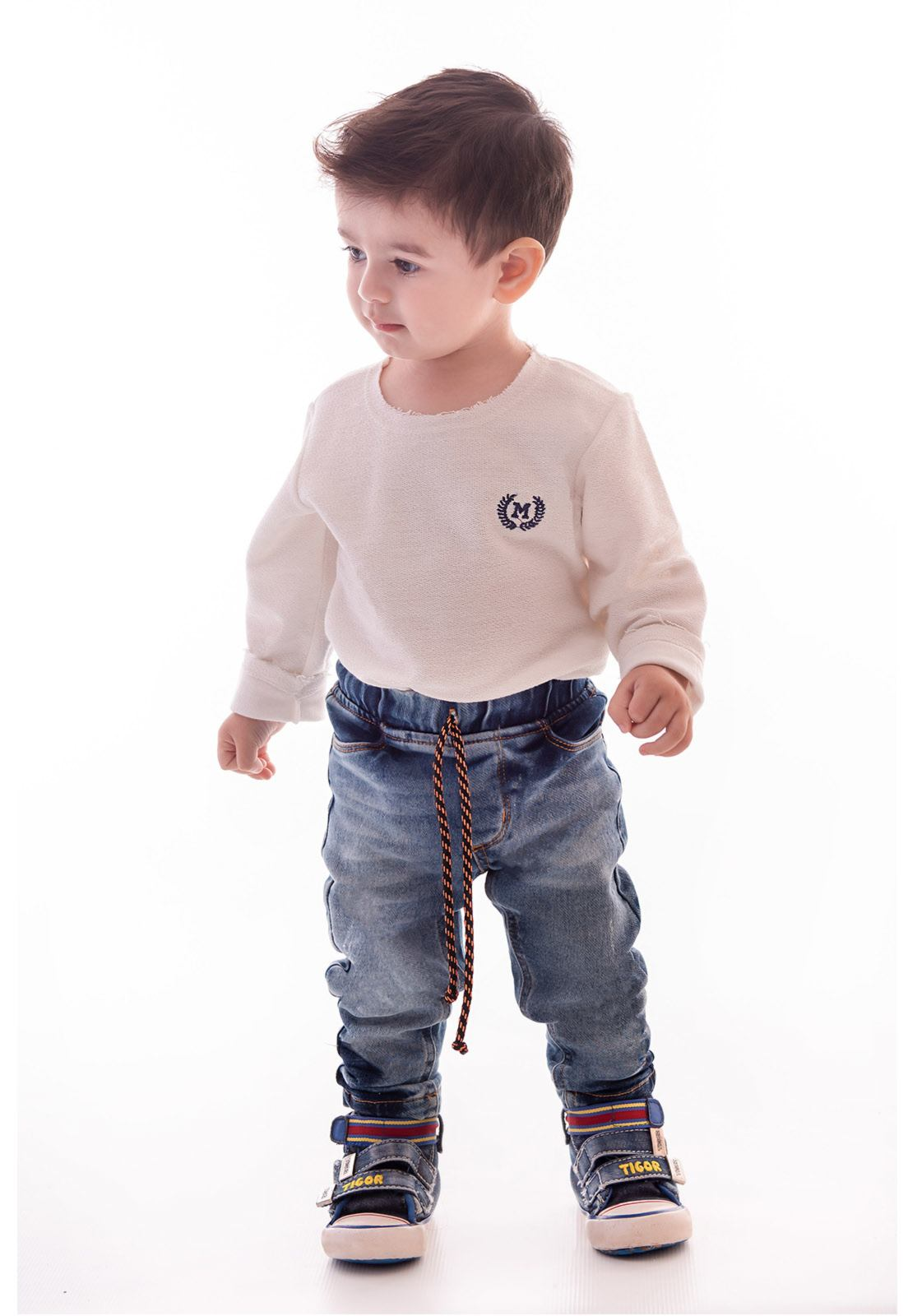 Calça Jeans em Moletom com Elástico Ref. 420