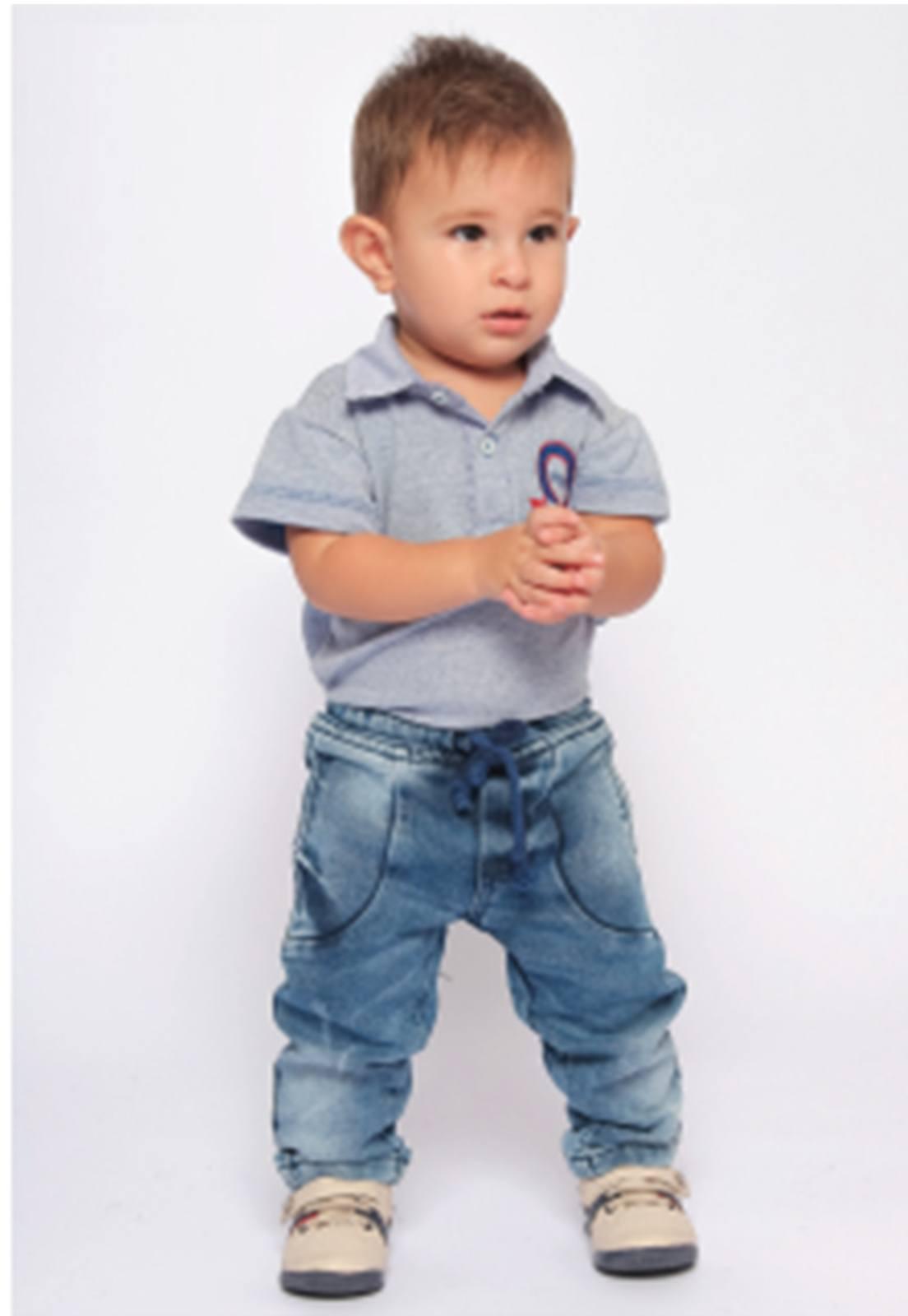 Calça Jeans em Moletom Super Macia Ref. 183