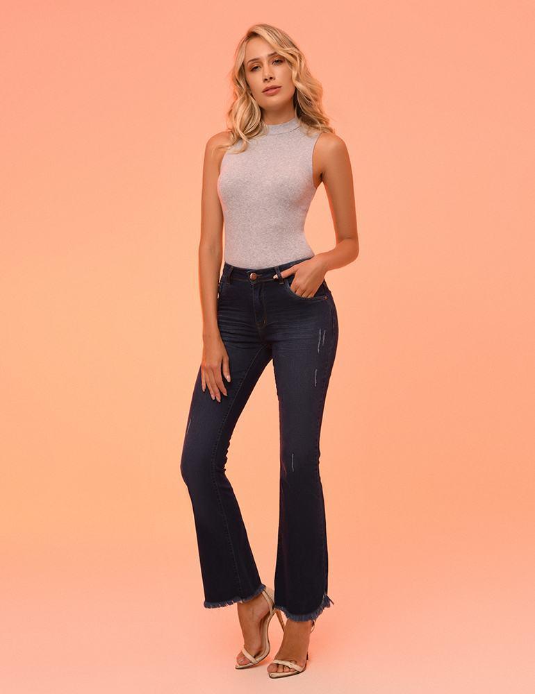Calça Jeans Flare Feminina Fact Jeans ref. 04228