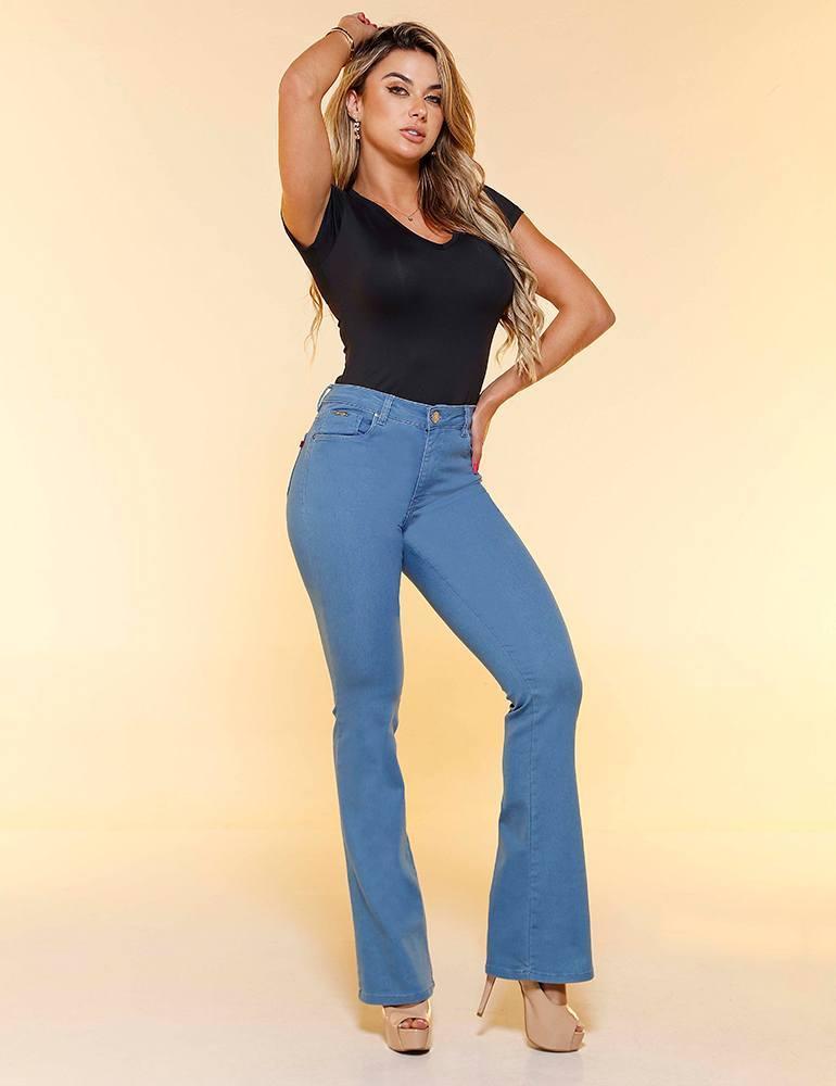 Calça Jeans Flare Feminina Fact Jeans ref. 04273