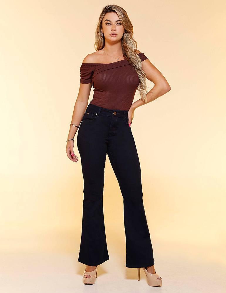 Calça Jeans Flare Feminina Fact Jeans ref. 04528
