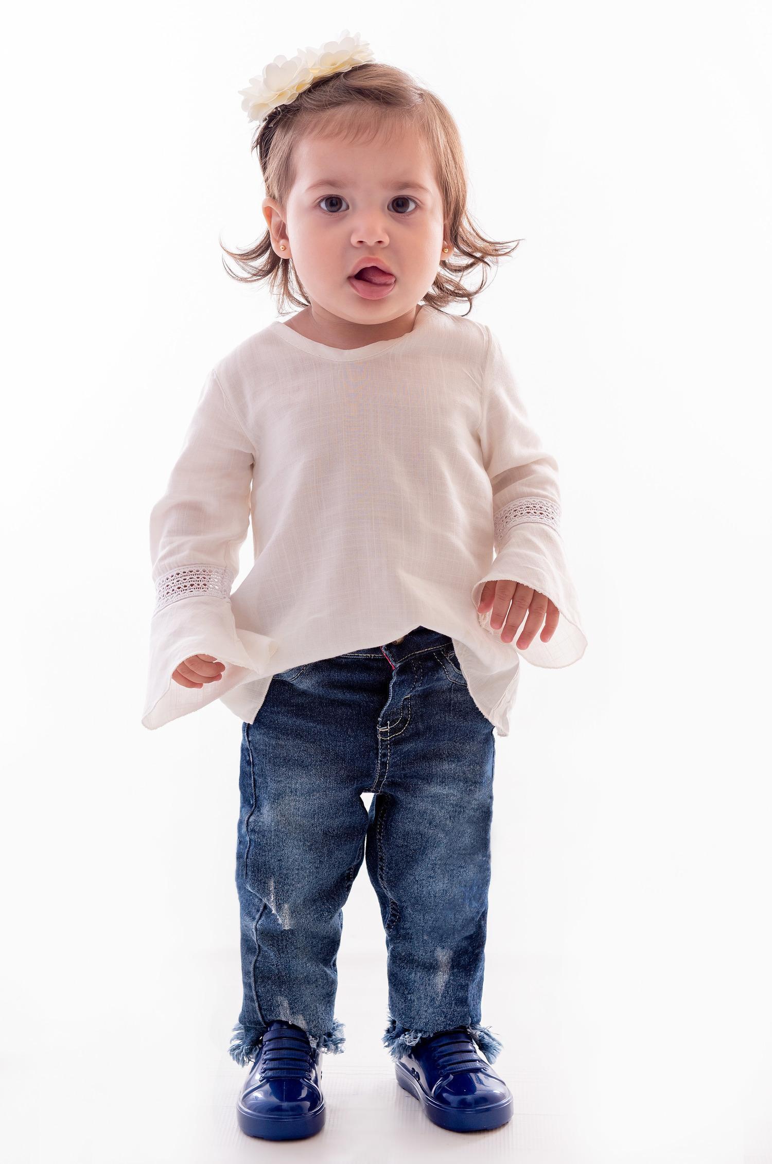 Calça Jeans para Bebê Menina Ref. 141.383