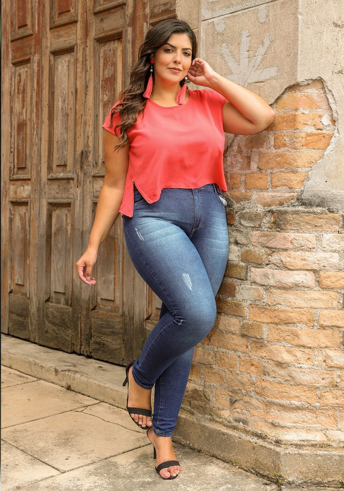 Calça Jeans Skinny Feminina Fact Jeans - Plus Size ref. 04256