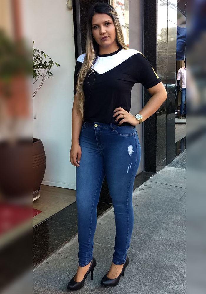 Calça Jeans Skinny Feminina Fact Jeans ref. 04220