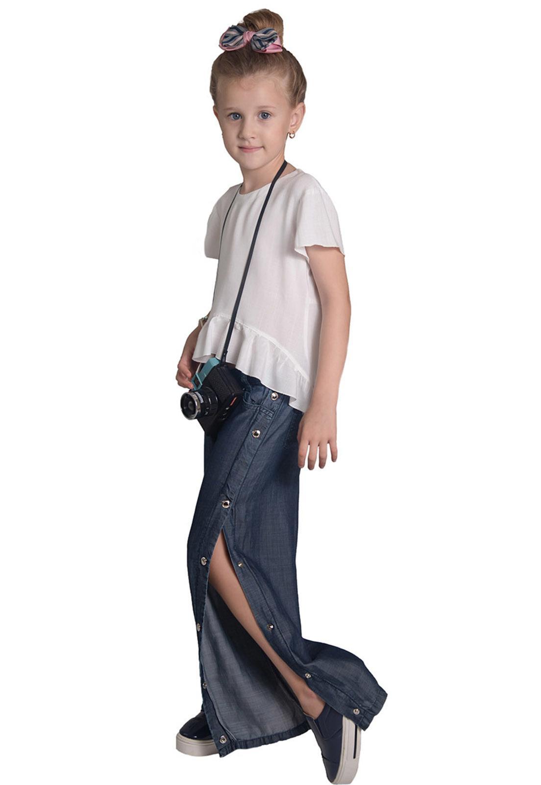 Calça Jeans Traker Botões Laterais
