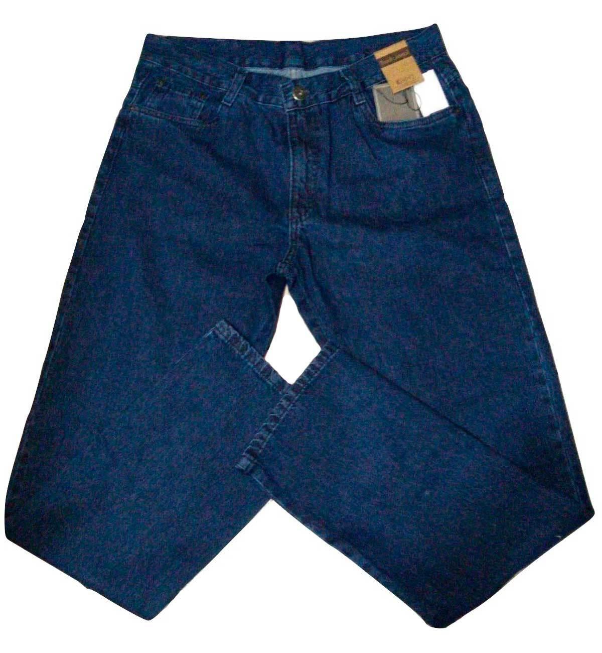 Calça masculina jeans corte reto tradicional