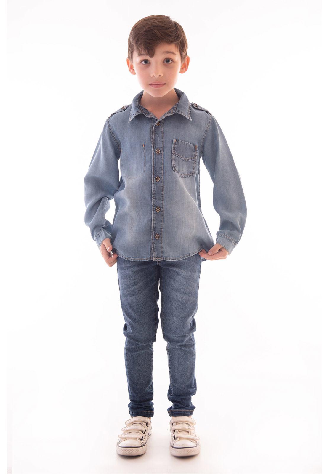 Camisa Jeans Liocel Manga Longa Ref. 517
