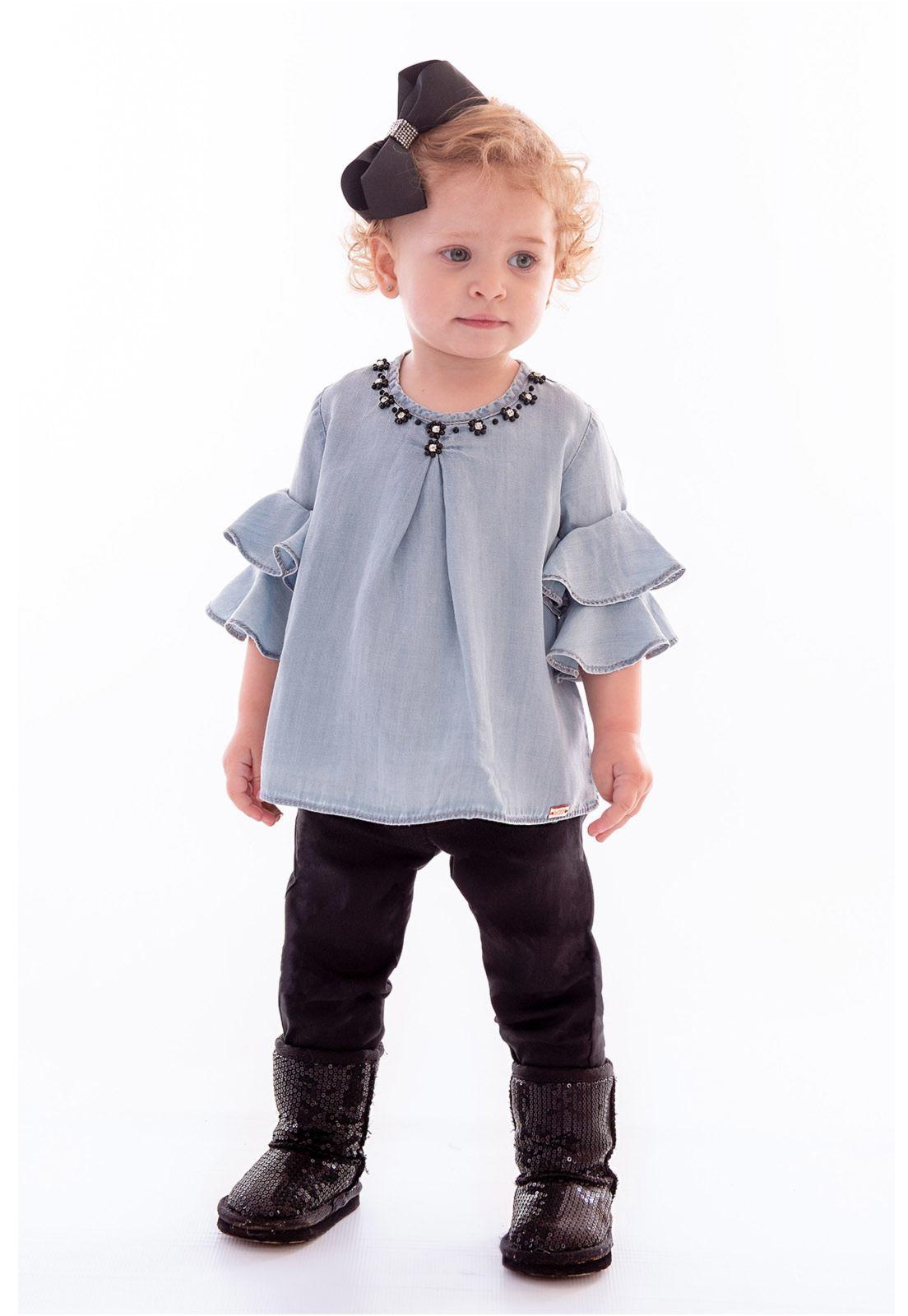 Conjunto Bata Liocel Jeans - Calça Alfaiataria Ref. 395