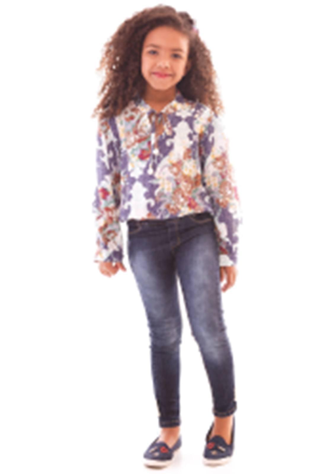 Conjunto Bata Viscose - Calça Jeans Ref. 470