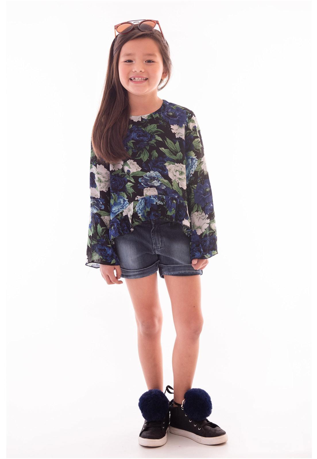 Conjunto Bata Viscose - Shorts Jeans com Elastano Ref. 472
