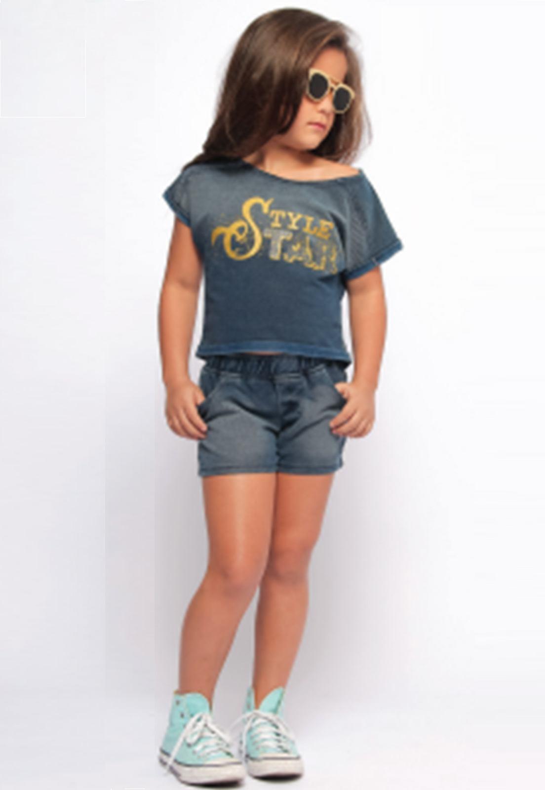 Conjunto Jeans Moletom para Menina Ref. 252