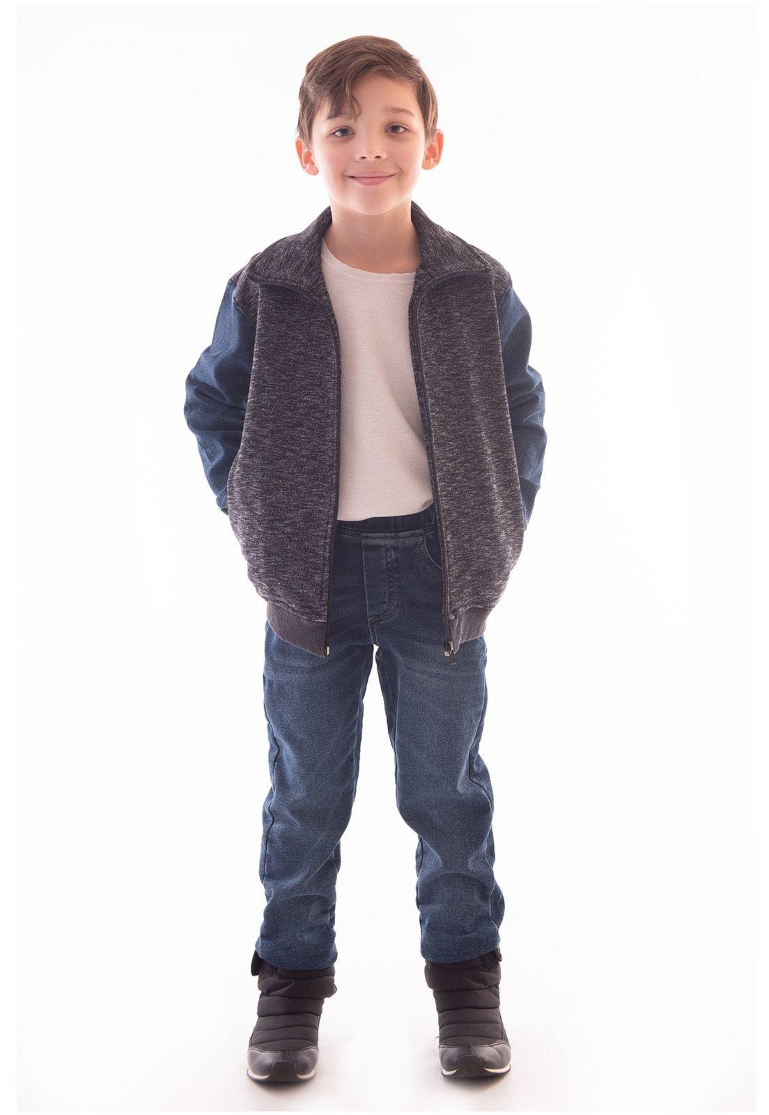 Conjunto Blusa Moletom - Calça Jeans Moletom Ref. 522