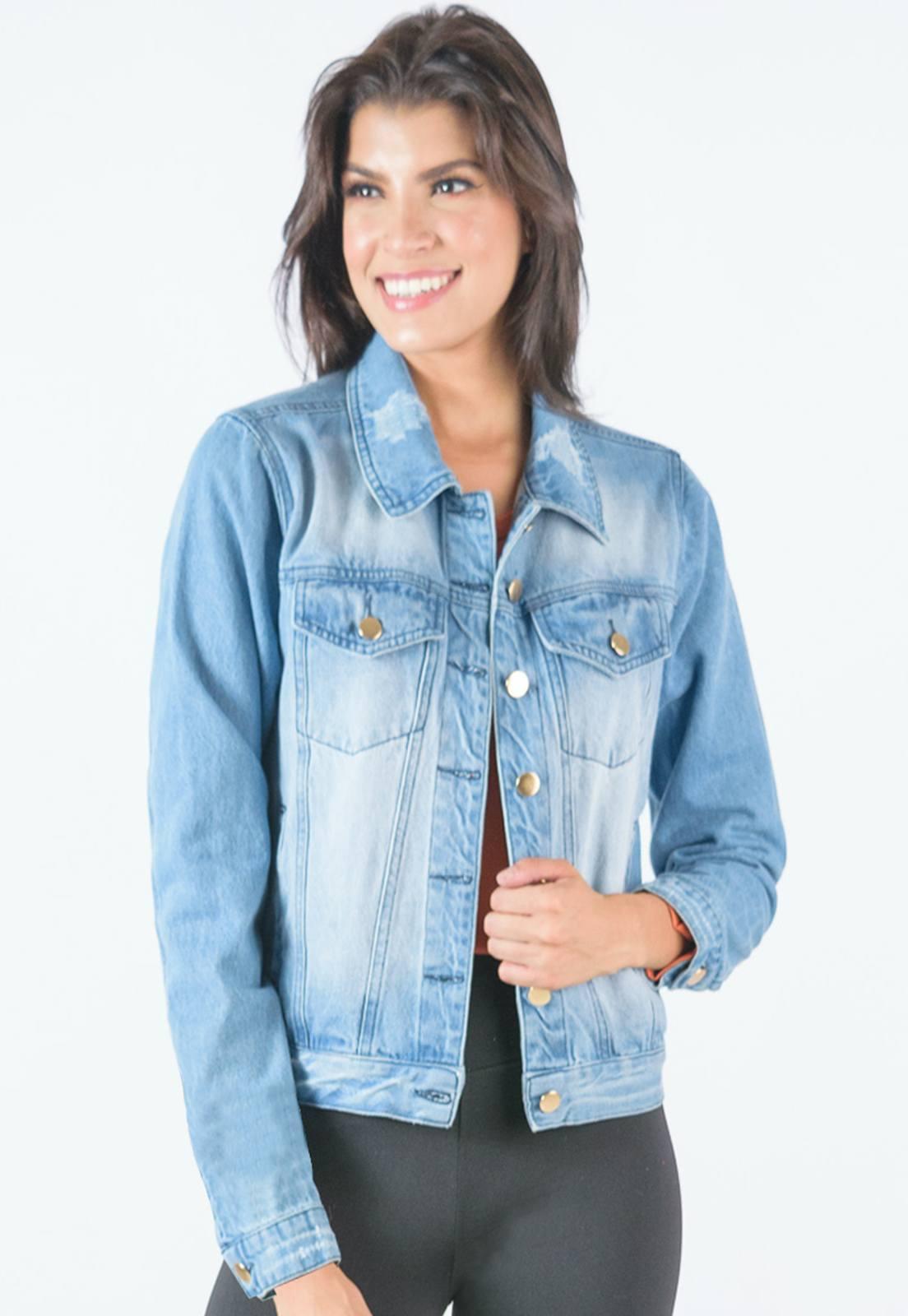 Jaqueta Feminina Jeans Clear Used Daion