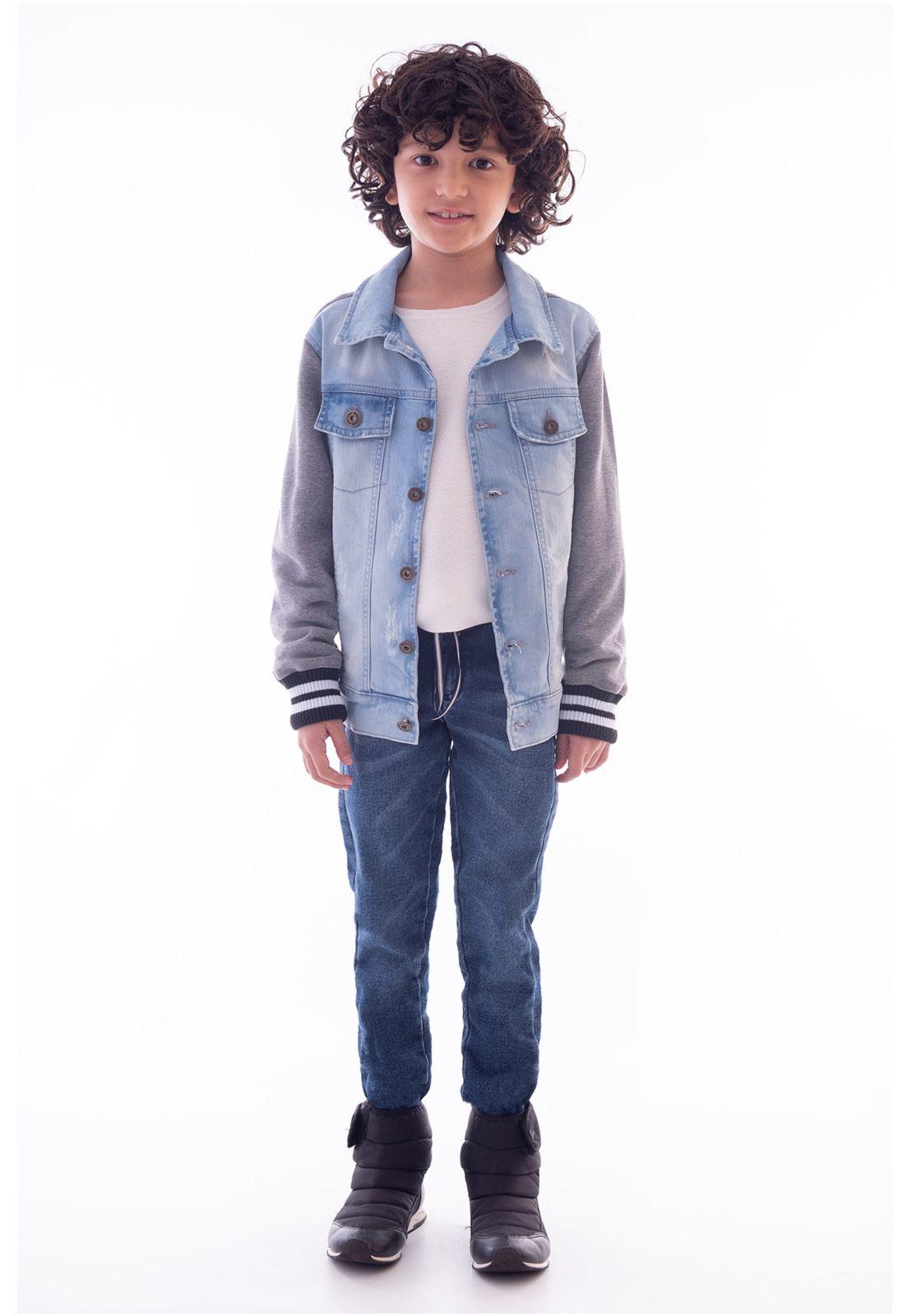 Jaqueta Jeans - Costas e Mangas Moletinho Ref. 537