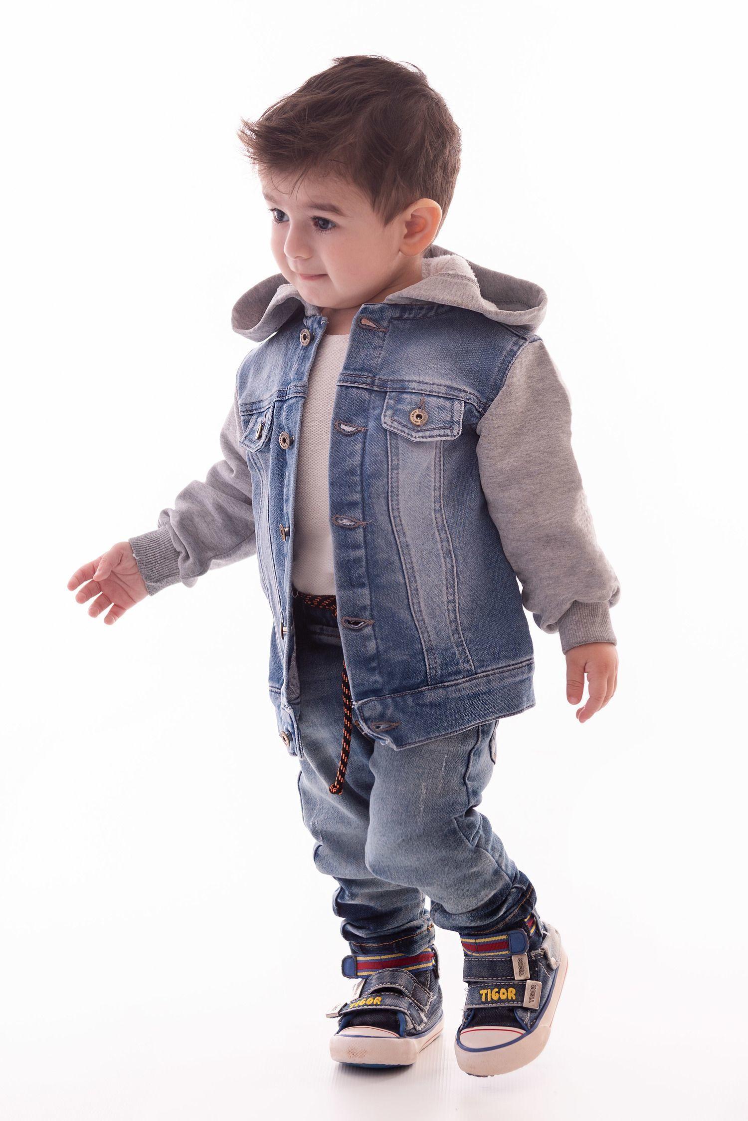 Jaqueta Jeans para Menino Ref. 437