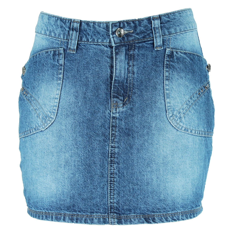 Mini-Saia Eruption Jeans Unidenim [7704STUS]