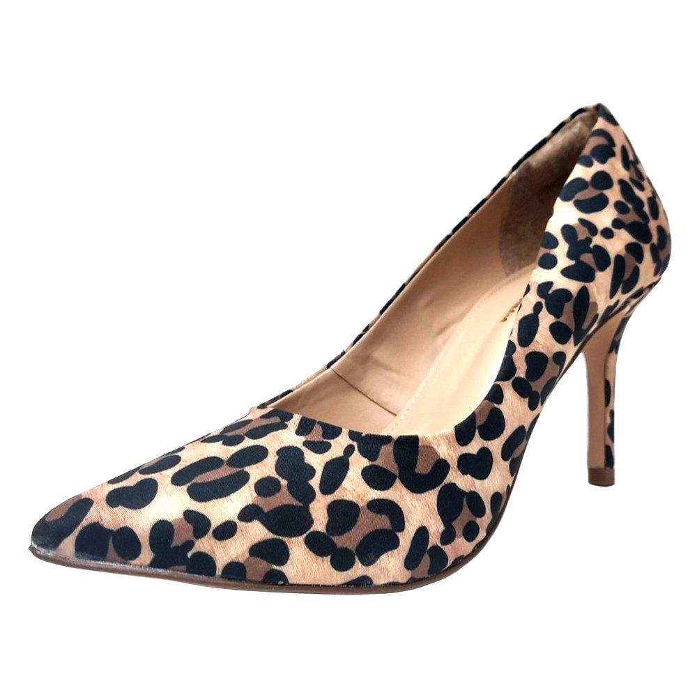 Scarpin Salto Médio Conceito Fashion 90501 Onça