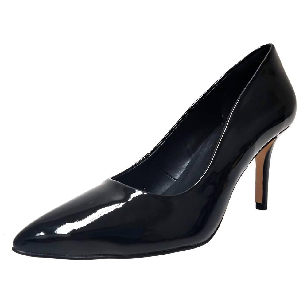 Scarpin Salto Médio Conceito Fashion 90501 Preto Verniz