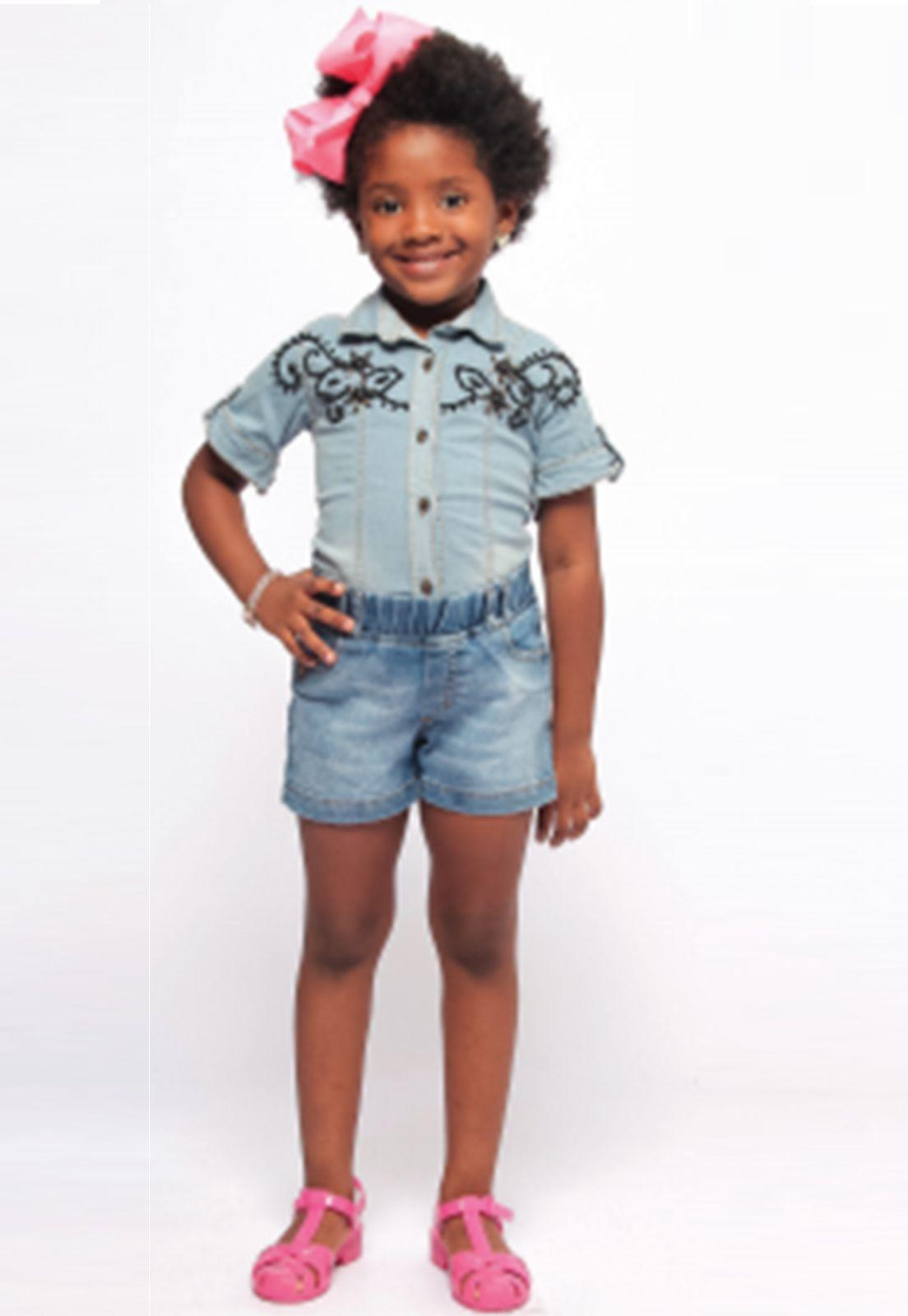 Shorts Jeans Curto com Elástico na Cintura Ref. 265