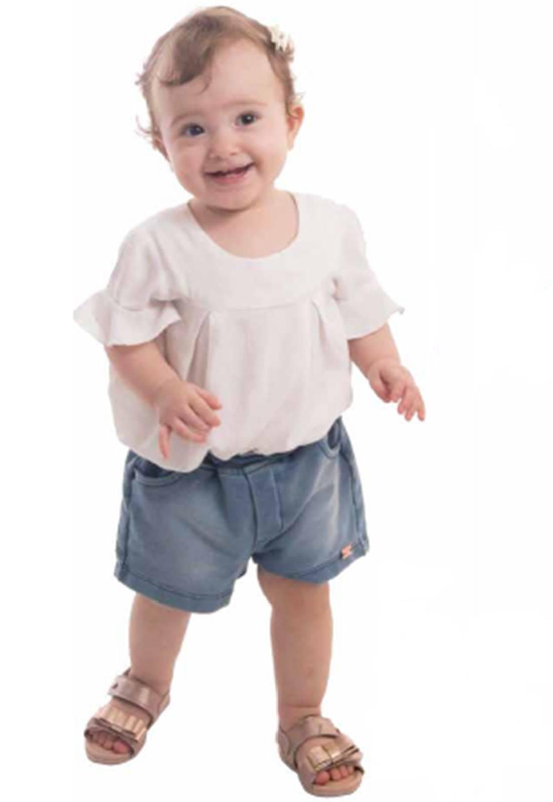 Shorts Jeans Moletom Super Macio Ref. 562