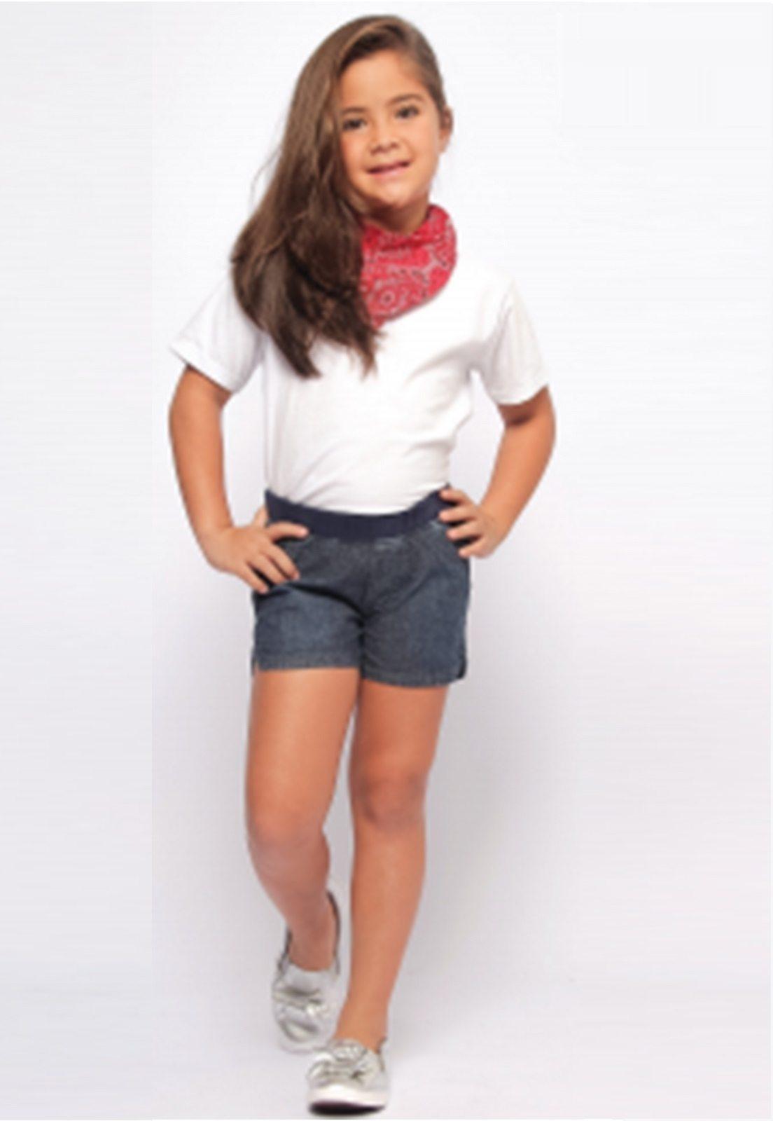 Shorts Kids Feminino Curto