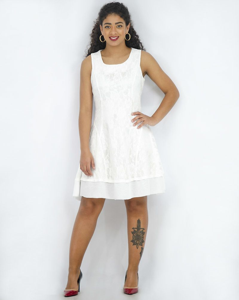 Vestido evasê renda [50963]