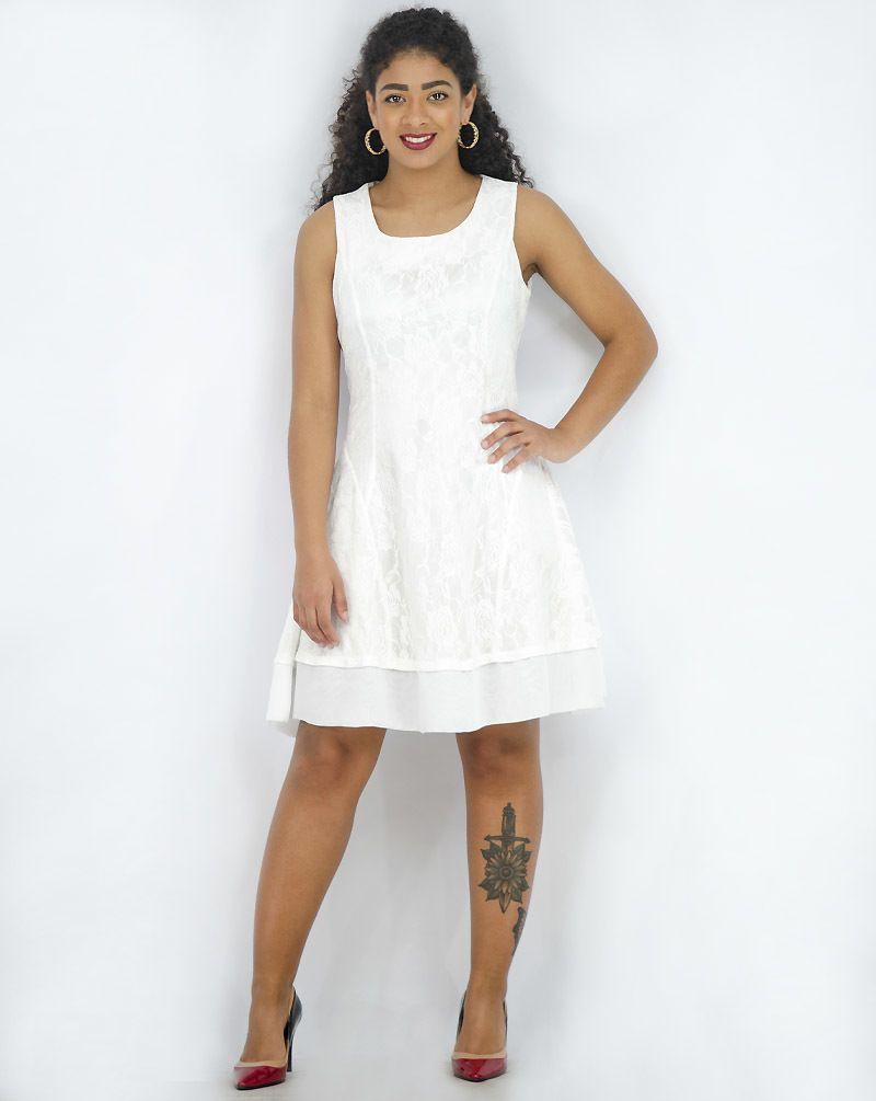Vestido evasê renda [50964]