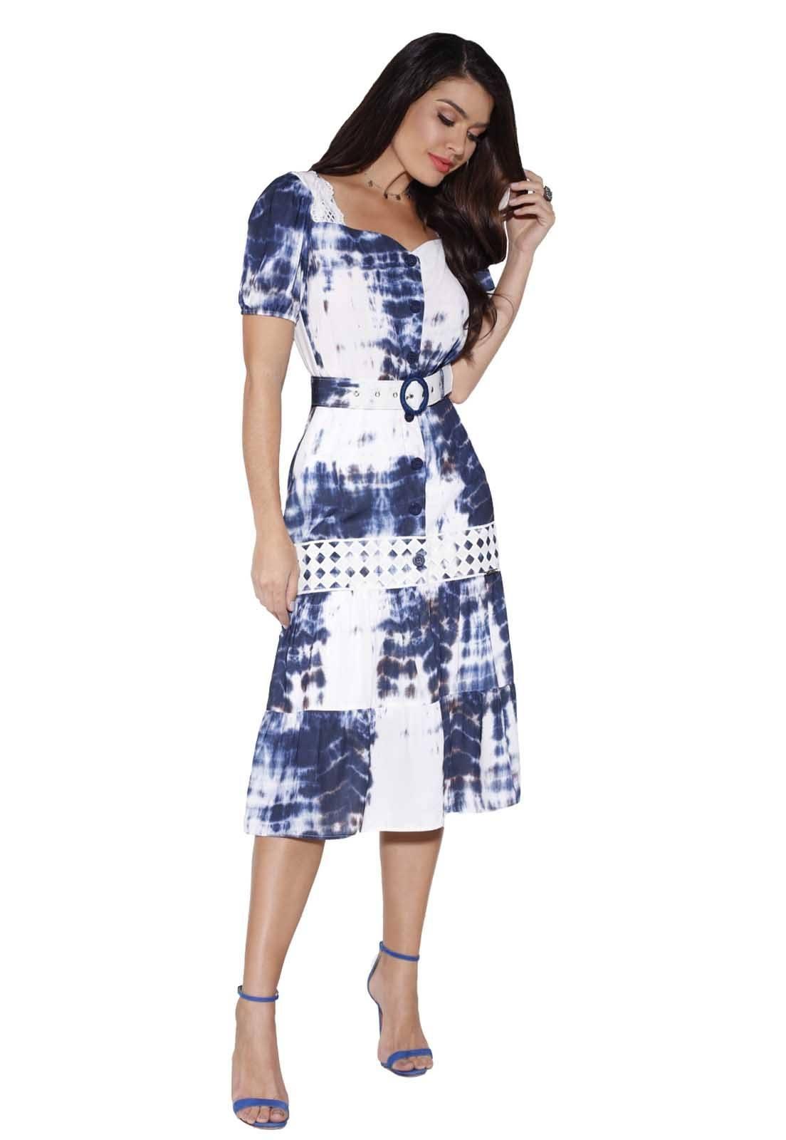 Vestido Feminino Fascinius Fasciniu's Moda Evangélica
