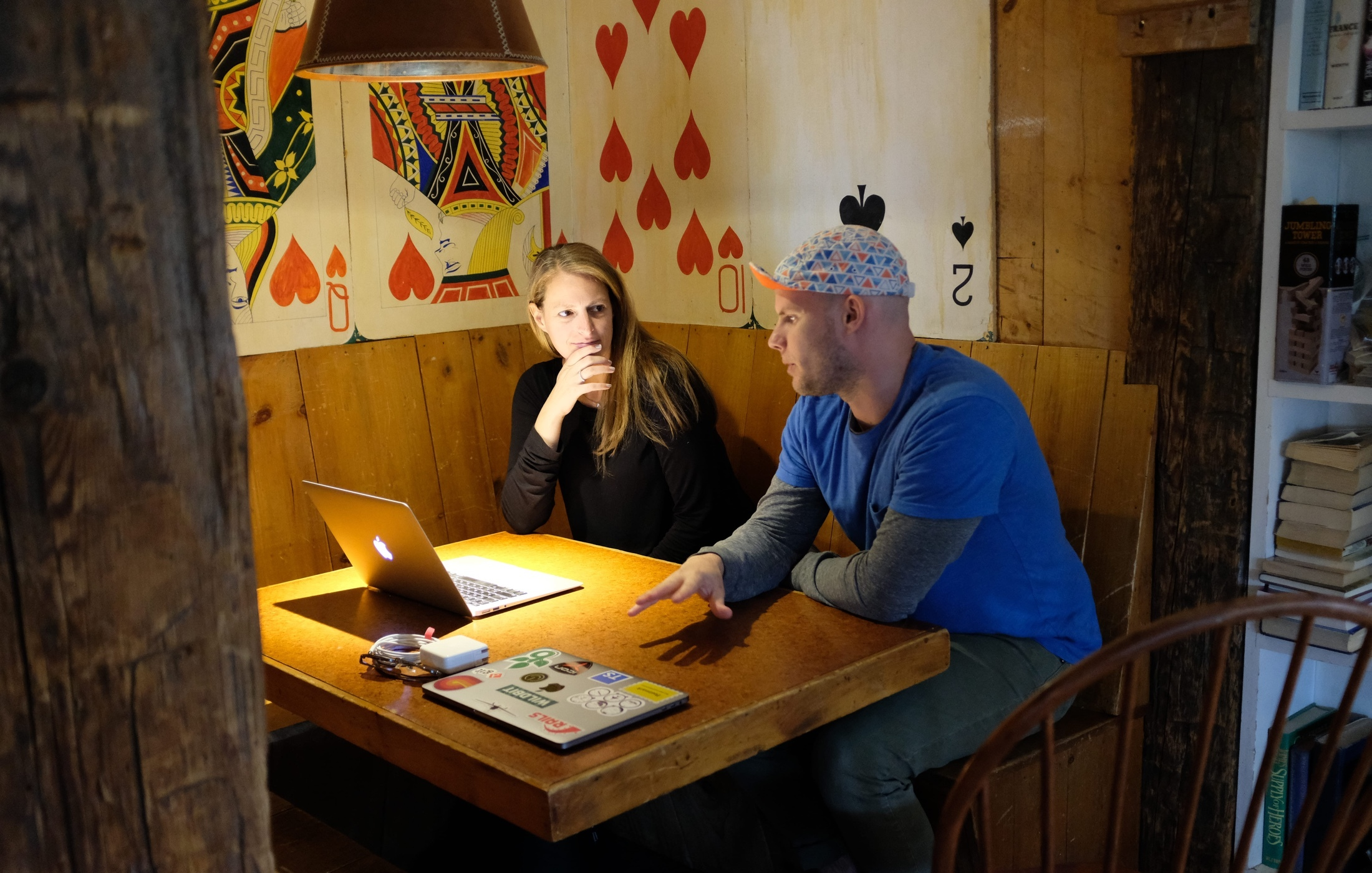 Two Wildbit team members discussing plans.