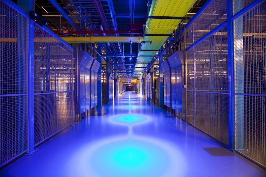 Server, Computer, Electronics, Hardware, Corridor, Lighting